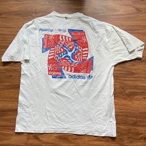 1994 distressed World Cup adidas soccer tee